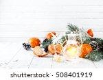 Christmas Lantern On A White...