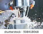 milling metalworking process.... | Shutterstock . vector #508418068