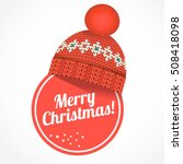 red christmas sticker with...   Shutterstock .eps vector #508418098
