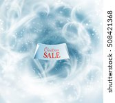 ribbon with christmas sale text ... | Shutterstock .eps vector #508421368