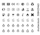 packaging symbols set  vector