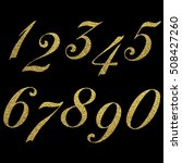 set of metallic numbers. vector ... | Shutterstock .eps vector #508427260