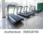 modern gym room fitness center... | Shutterstock . vector #508428700