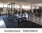 modern gym room fitness center... | Shutterstock . vector #508428820
