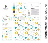 corporate identity template set ... | Shutterstock .eps vector #508428970