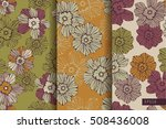 magical flowers. seamless... | Shutterstock .eps vector #508436008