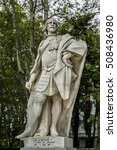 statues of gothic kings  1750   ... | Shutterstock . vector #508436980