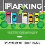 city parking vector web banner. ... | Shutterstock .eps vector #508440223