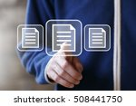 business button file icon online | Shutterstock . vector #508441750