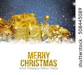 christmas background with... | Shutterstock . vector #508445089