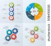 set of 4 business infographic...   Shutterstock .eps vector #508450030
