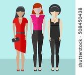 women friends having fun... | Shutterstock .eps vector #508450438