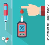 diabetes blood glucose test... | Shutterstock .eps vector #508450540