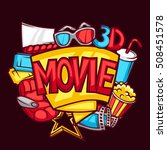 cinema and 3d movie advertising ... | Shutterstock .eps vector #508451578