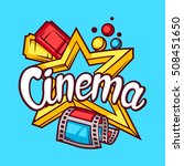 cinema and movie advertising... | Shutterstock .eps vector #508451650