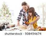 portrait of cute daughter and... | Shutterstock . vector #508454674