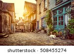 panoramic view of old town in... | Shutterstock . vector #508455274