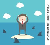 desperate businessman standing... | Shutterstock .eps vector #508455460