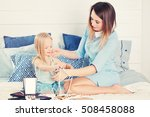 mother and daughter with female ... | Shutterstock . vector #508458088