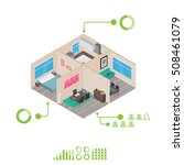isometric house rooms ... | Shutterstock .eps vector #508461079