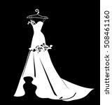 dress design  silhouette   Shutterstock .eps vector #508461160