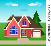 colorful cottage house | Shutterstock .eps vector #508461499