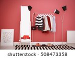 fashionable clothes hanging on... | Shutterstock . vector #508473358