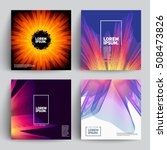 abstract covers with mesh... | Shutterstock .eps vector #508473826