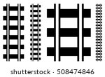 illustration w railway track ... | Shutterstock .eps vector #508474846