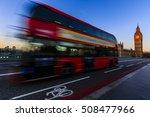 london  england  uk. red buses... | Shutterstock . vector #508477966