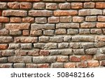 red old brick wall structure... | Shutterstock . vector #508482166