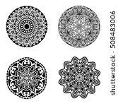 black ornament or mandala...   Shutterstock . vector #508483006