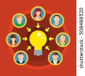 concept of crowdsourcing. group ... | Shutterstock . vector #508488520