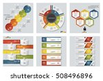 collection of 6 design colorful ... | Shutterstock .eps vector #508496896