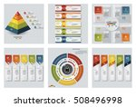 collection of 6 design colorful ... | Shutterstock .eps vector #508496998