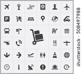 baggage icon. airport icons... | Shutterstock .eps vector #508497988