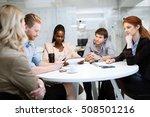 business people board meeting... | Shutterstock . vector #508501216
