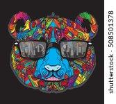 vector ornament of cartoon... | Shutterstock .eps vector #508501378