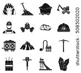miner icons set. simple... | Shutterstock .eps vector #508502020