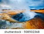 ominous view geothermal area... | Shutterstock . vector #508502368