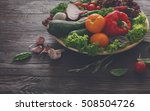 bowl with fresh organic... | Shutterstock . vector #508504726