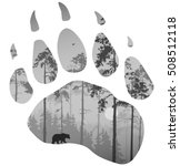 silhouette of a bear track.... | Shutterstock .eps vector #508512118