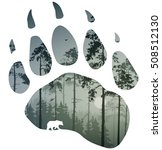 silhouette of a bear track.... | Shutterstock .eps vector #508512130