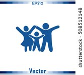 happy family icon in simple... | Shutterstock .eps vector #508512148
