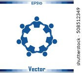 vector icon graphic teamwork...   Shutterstock .eps vector #508512349