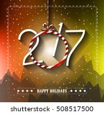 2017 happy new year background... | Shutterstock .eps vector #508517500