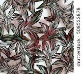 seamless background. lilies....   Shutterstock . vector #508523878