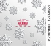 background with snowflakes | Shutterstock .eps vector #508525009