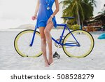 young beautiful hipster woman... | Shutterstock . vector #508528279
