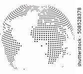 vector dotted globe. abctract...   Shutterstock .eps vector #508528378